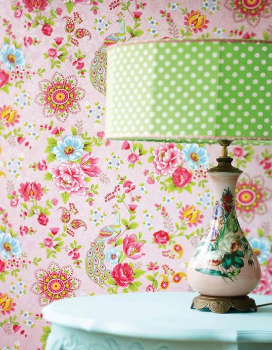 Floral Wallpaper Wallpaper Ludmilla rose Room View