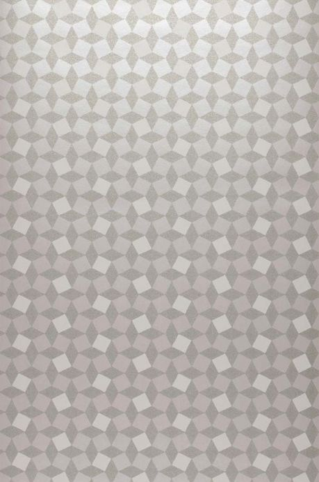 Archiv Wallpaper Atropos white silver Roll Width