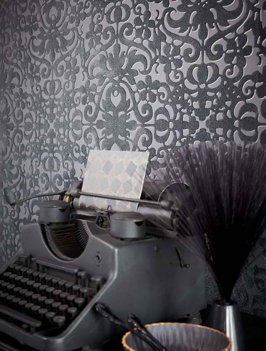 Archiv Wallpaper Juventas black Room View