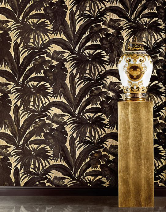 Papel de parede Versace Papel de parede Yasmin preto Ver quarto