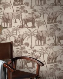 Wallpaper Raynor pale brown