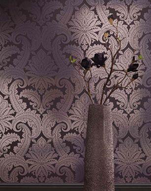 Papier peint Nemesis argenté lustre Vue pièce