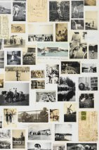 Wallpaper Hulda Matt Old photos and postcards White Pale beige Black