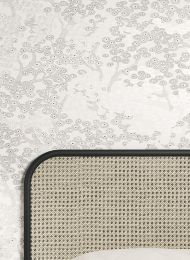 Papel de parede Kirigami cinza claro pérola