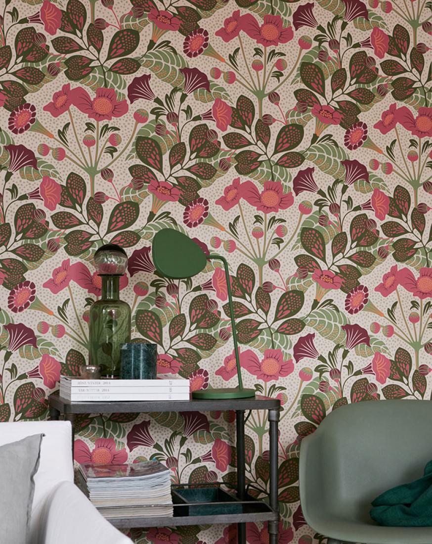 ancasi hellelfenbein altrosa blassgr n bordeauxviolett olivgr n florale tapeten. Black Bedroom Furniture Sets. Home Design Ideas