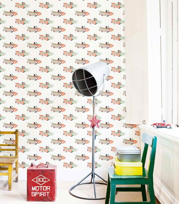Archiv Wallpaper Space racer pale orange Room View