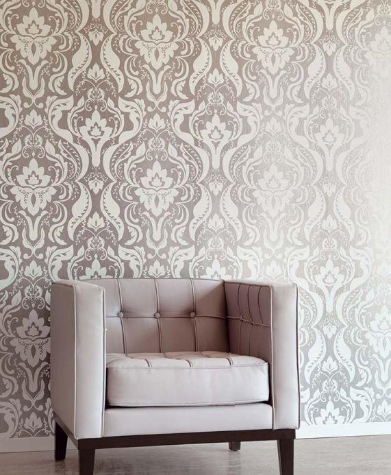 Archiv Papier peint Sennin aluminium gris Vue pièce