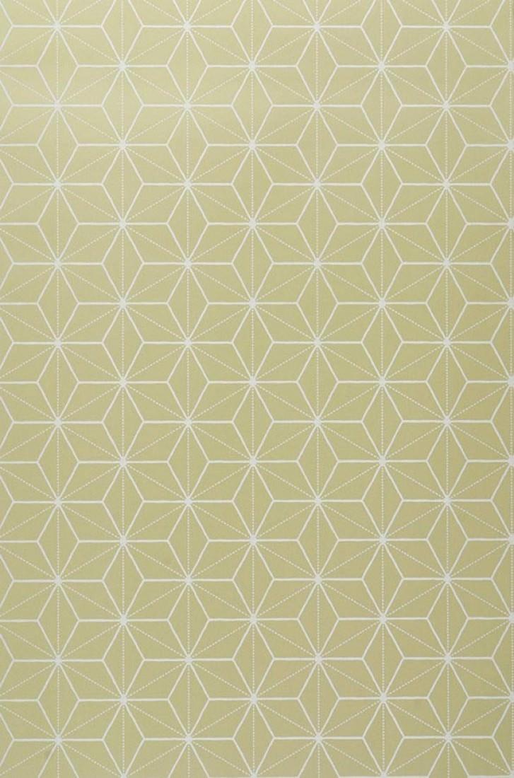 papier peint hemsut vert clair blanc cr me papier peint des ann es 70. Black Bedroom Furniture Sets. Home Design Ideas