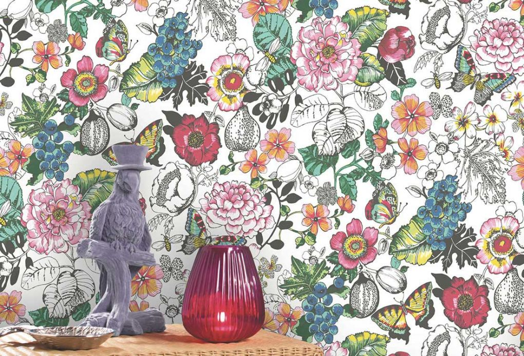 Archiv Wallpaper Ilaria rose Room View