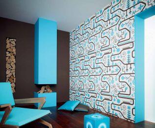 Papel pintado Ranita azul claro