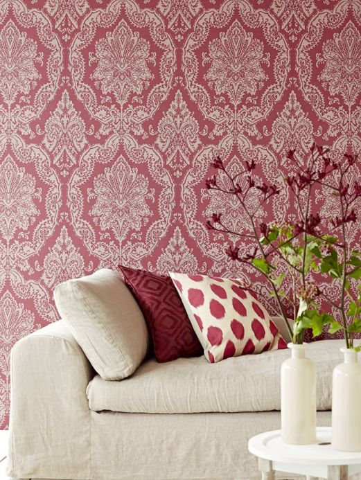 Archiv Wallpaper Heigold ruby red Room View