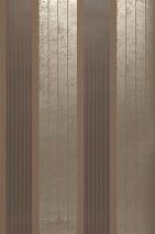 Wallpaper Arolata Shimmering pattern Matt base surface Stripes Pale grey brown Anthracite Gold