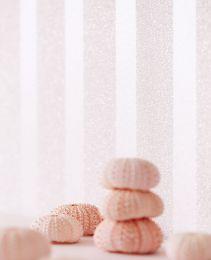 Papier peint Artemis rosé pâle chatoyant