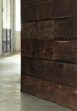 Papel pintado Scrapwood 10 marrón chocolate Ver habitación