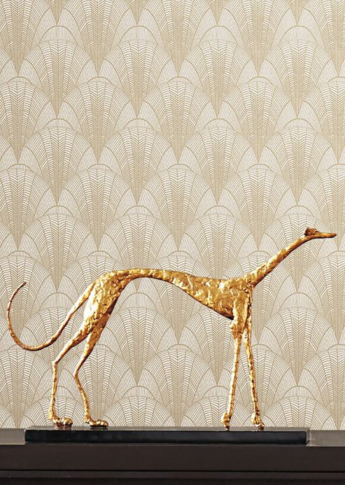 Classic Wallpaper Wallpaper Speakeasy pearl gold Room View