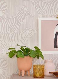 Wallpaper Safari Stripes grey beige