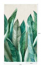 Wallpaper Amazonas Matt Banana leaves Cream Shades of green