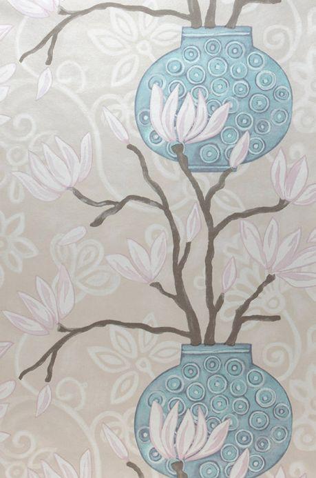 Archiv Wallpaper Habita light grey beige Roll Width