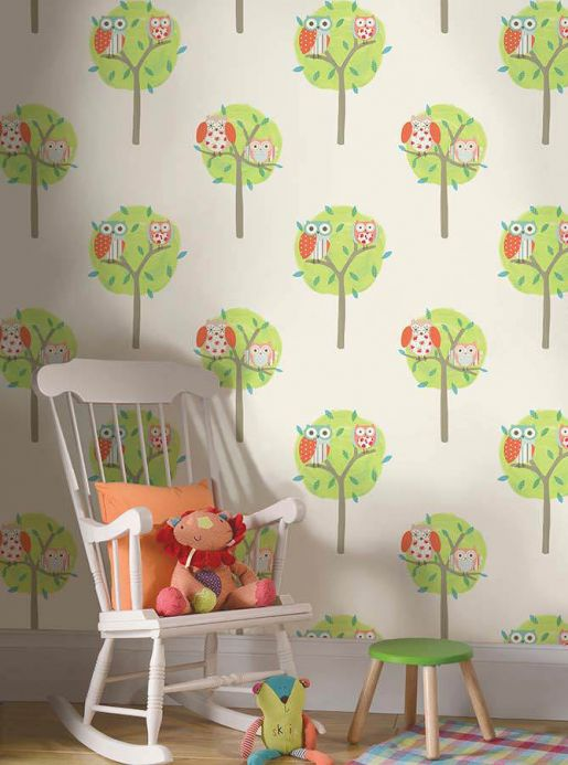 Archiv Wallpaper Romary yellow green Room View