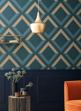 Papel de parede Cameron azul oceano Ver quarto