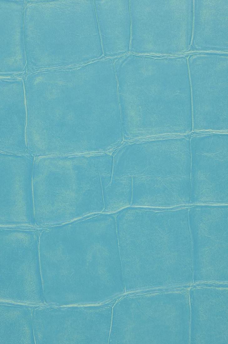Papel pintado croco 03 azul turquesa papeles de los 70 for Papel pintado azul turquesa