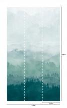 Wallpaper Ligea Matt Mountains Forest Clouds Shades of green Green white White