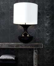 Papel de parede Nahum Mate Imitação de madeira Cinza escuro pérola Cinza negrusco