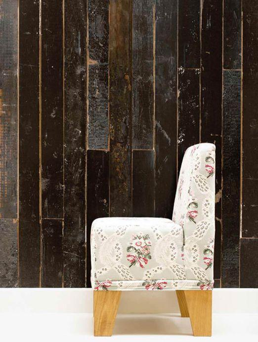 Papel pintado NLXL Papel pintado Scrapwood 05 tonos de marrón grisáceo Ver habitación