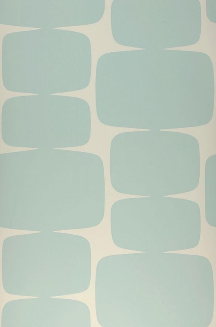 Wallpaper Waris (Grey white, Light mint turquoise) | Wallpaper from ...