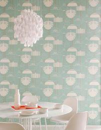 Wallpaper Sobek pastel turquoise