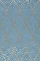 Papier peint Soana bleu clair