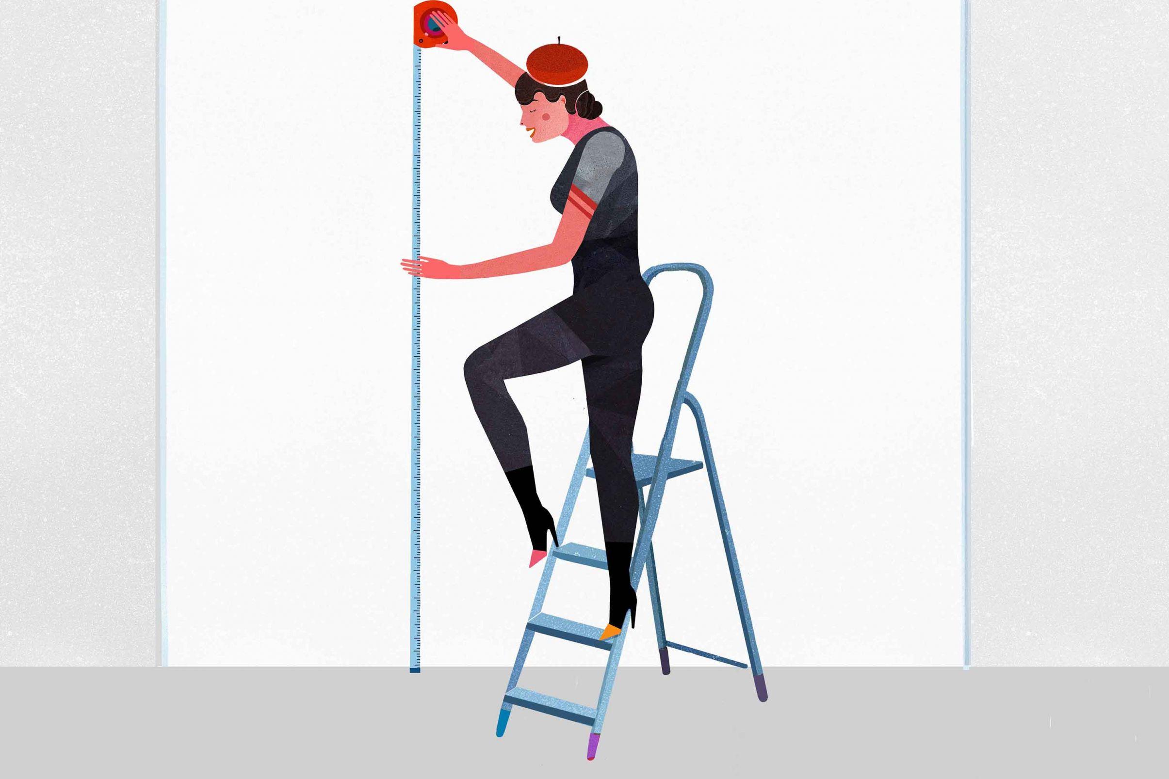 Como-cortar-el-papel-pintado-correctamente-Medir-la-pared