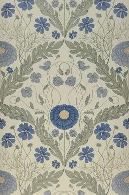 Papel pintado Lomasi azul celeste Ancho rollo