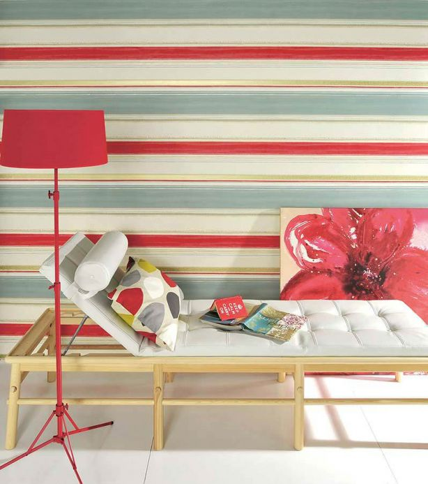 Archiv Wallpaper Fabiana red Room View