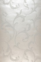Wallpaper Iwana Shimmering Leaf tendrils Cream pearl lustre Cream shimmer