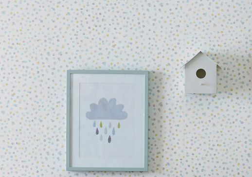 Papel de parede Uncountable Dots turquesa menta Ver quarto