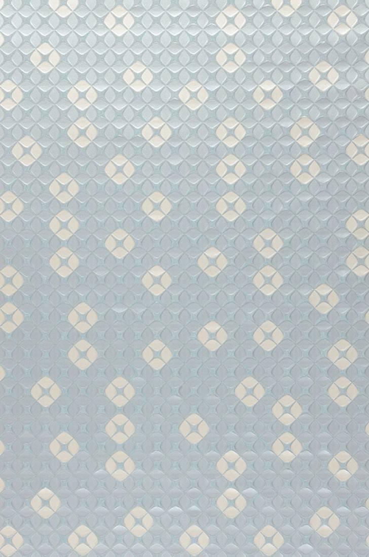 Papel pintado korsal azul claro pastel blanco crema for Papel pintado de los 70