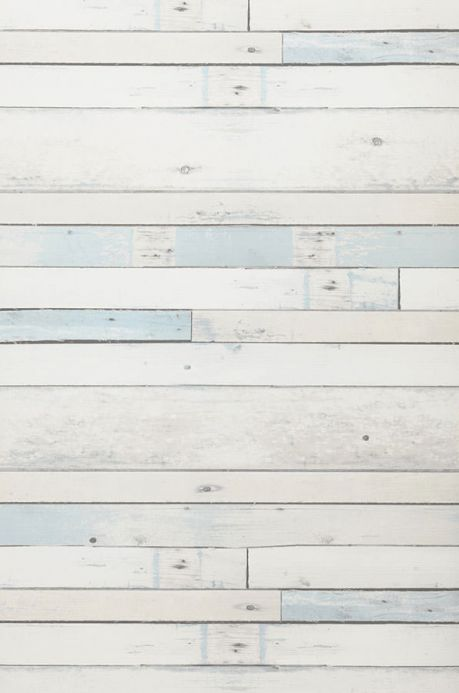 Archiv Carta da parati Shabby Planks blu pallido Larghezza rotolo