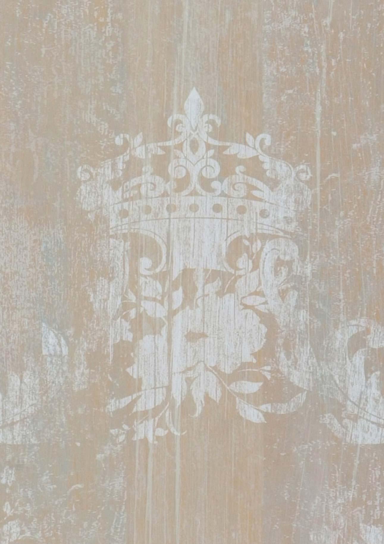 vintage brown beige grey white shabby chic wallpaper. Black Bedroom Furniture Sets. Home Design Ideas