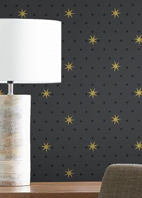 Wallpaper Mako dark grey Raumansicht