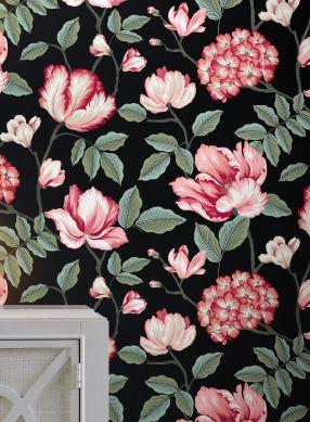 Wallpaper Alba black Raumansicht