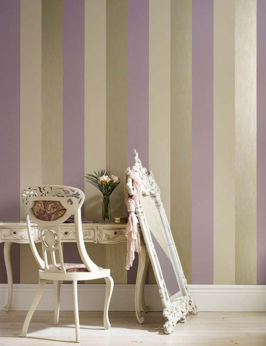 Archiv Wallpaper Victoria lavender Room View