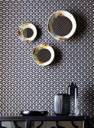 Papel de parede Merkur cinza negrusco
