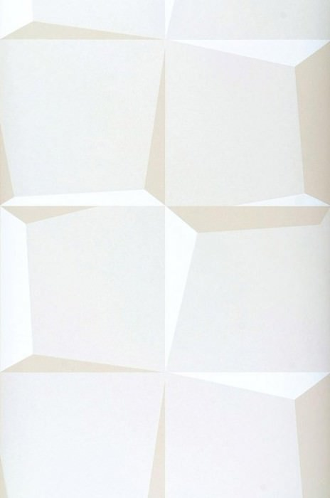 Wallpaper 3D-Squares Matt Squares Cream Beige White