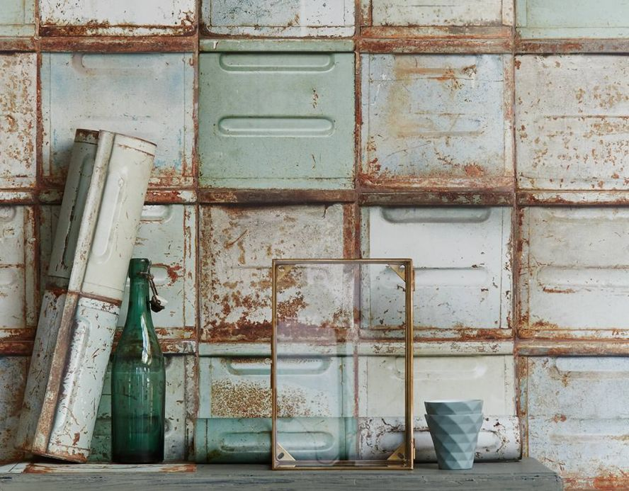 Industrial Style Wallpaper Wallpaper Container pale green Room View
