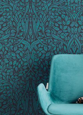 Papel pintado Cortona azul océano Ver habitación