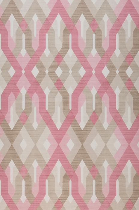 Wallpaper Karus Matt Geometrical elements Cream Pale brown Light brown Rose