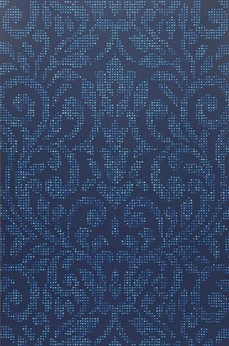 Tapete lynda dunkelblau hellblau tapeten der 70er for Tapete hellblau muster