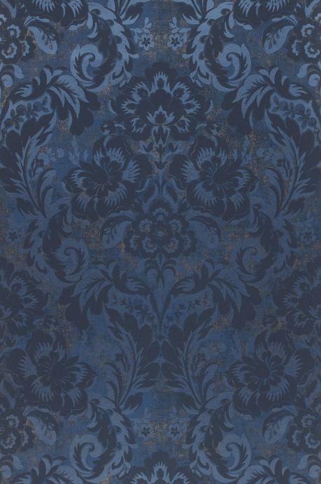 Papier peint baroque Papier peint Anastasia bleu perle Bahnbreite