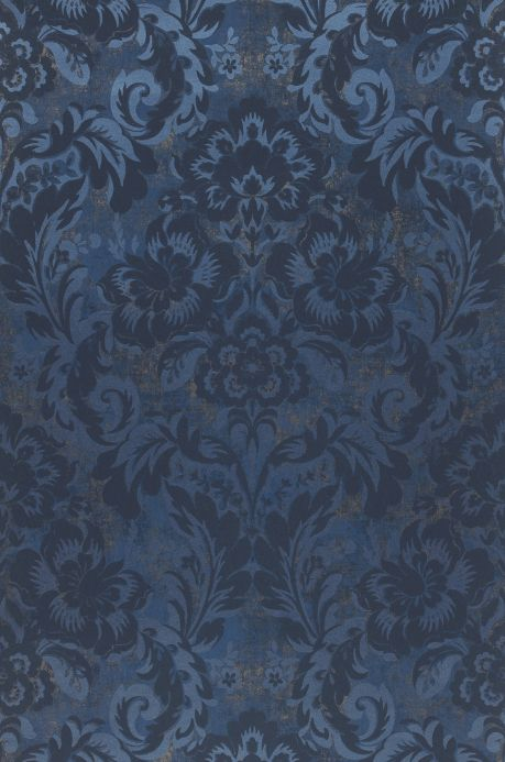 Papel de parede damasco Papel de parede Anastasia azul pérola Bahnbreite